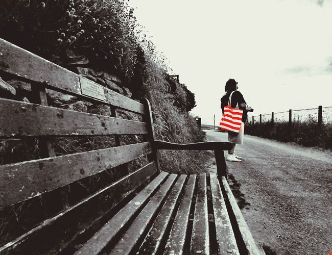 Longing Bench Longing EyeEmNewHere Red Bag Beachbag Full Length Women Casual Clothing Sky