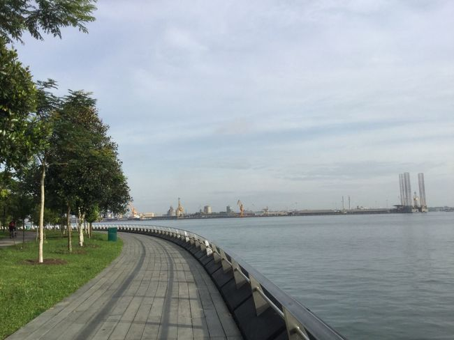 Sky Tree Jogging Track My Year My View Tranquility Water No People Built Structure Architecture Day Outdoors Refinery Panaromic Nature IPhoneography