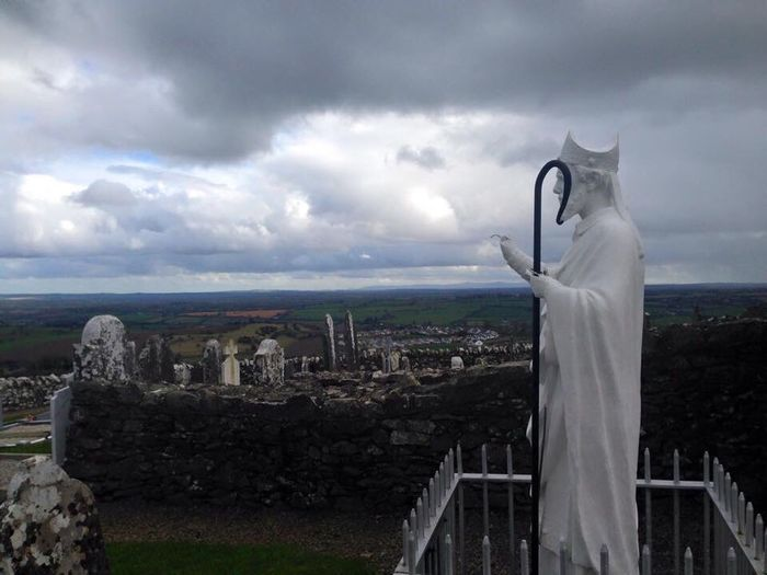 Hill Of Slane Sky Cityscape Cloud - Sky Outdoors Sculpture Building Exterior Leisure Activity Architecture City Statue Built Structure Women Scenics Nature Day One Person Beauty In Nature People