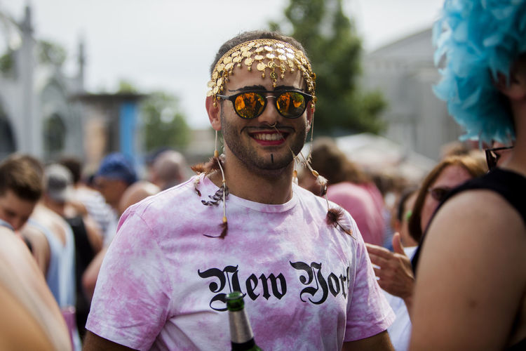 Pride Festival Berlin Berlin Cap Casual Clothing Close-up CSD CSD Berlin 2016 Custom Day Focus On Foreground Front View Gay Happiness Headshot Leisure Activity Lifestyles Outdoors Person Portrait Smiling Street Street Photography Streetphotography Toothy Smile