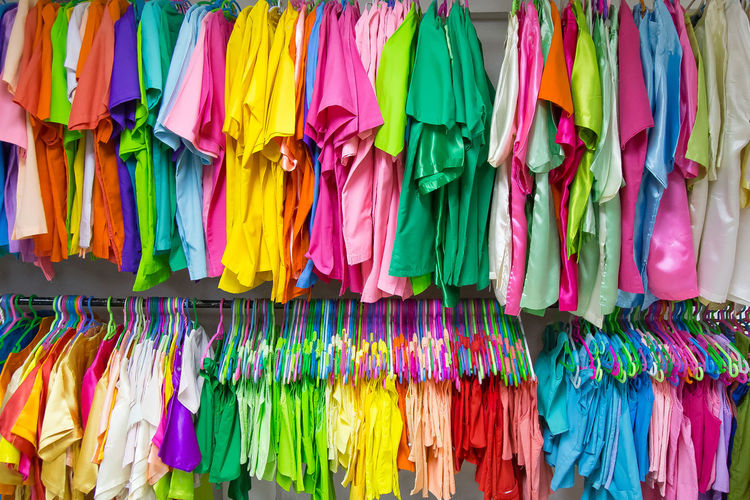 The colour full clothes hanging image for background. Colour Full Backgrounds Clothes Hanging Clothes Hanging Out To Dry Clothing Colour Full Cloth Colour Full Fassion Day Fashion For Sale Hanging Multi Colored No People Retail  Variation