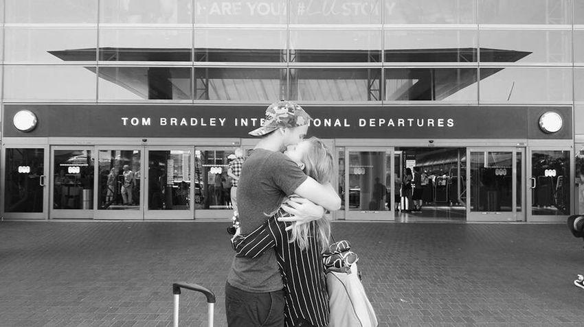 Farewell Kiss Kiss And Fly Goodbye Kiss LAX