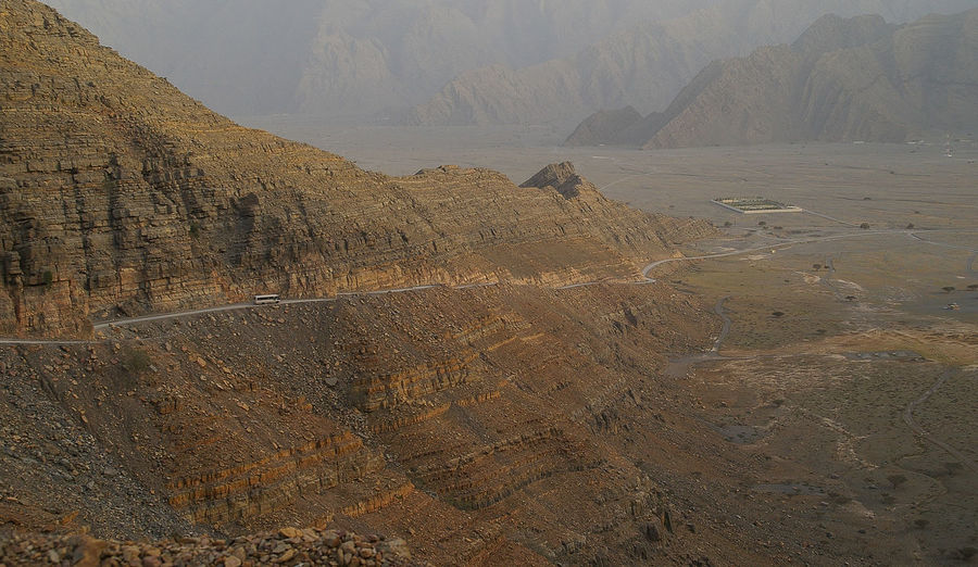 High Angle View Of Musandam Governorate Mountain