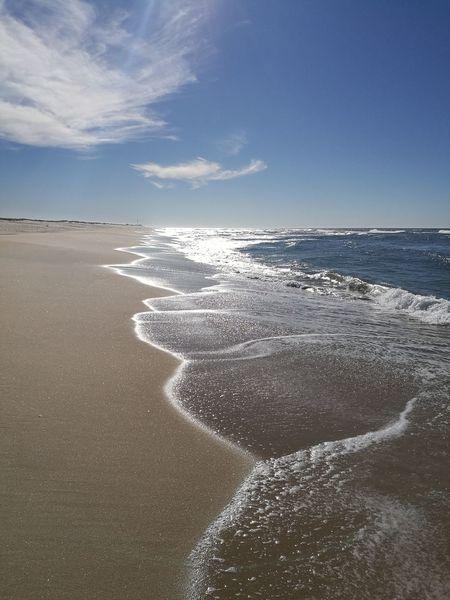 The beach in Costa De Lavos Portugal