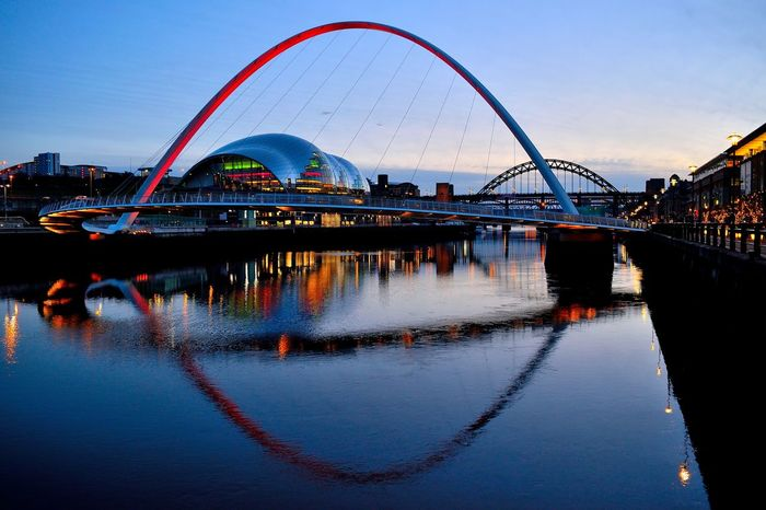 Architecture Bridge - Man Made Structure Building Exterior City City Cityscape Cityscape Dusk Harbor Millenium Bridge Night Nightphotography No People Outdoors Reflection River Riverside Silhouette Sky The Sage Travel Destinations Tyne Vacations Water Water Reflections The Architect - 2017 EyeEm Awards Your Ticket To Europe