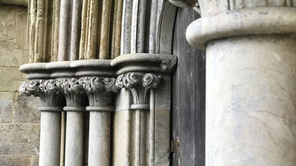 Built Structure Architecture Building Exterior Outdoors No People History Day Architectural Column Low Angle View Close-up Bas Relief Sculpture Salisbury Salisbury Cathedral  Cathedral IPhone7Plus EyeEmNewHere