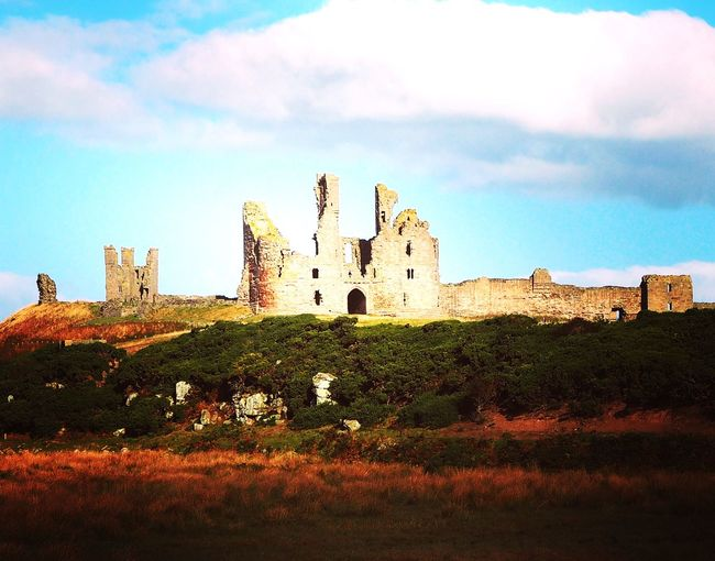 Ruined Ruins Castle Ruin Castle Old Northumberland