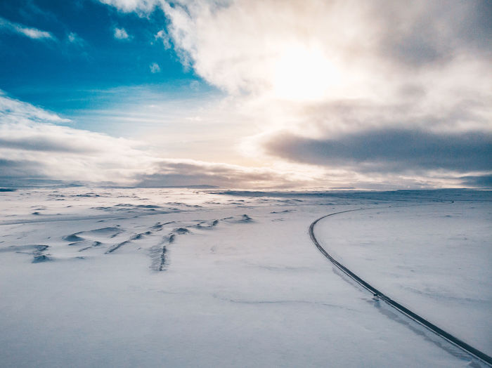 Road in winter Aerial Shot DJI Mavic Air Drone  Iceland Iceland Memories Mavic Air Nature Road Beauty In Nature Cloud - Sky Cold Temperature Day Environment Iceland Trip Iceland_collection Landscape Mavic Nature No People Non-urban Scene Outdoors Scenics - Nature Sky Snow Snowcapped Mountain Tranquil Scene Tranquility Winter