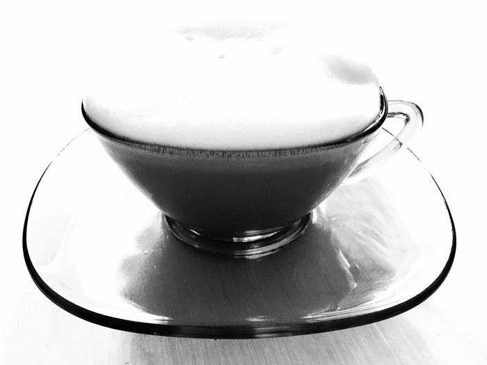 Calmness Quiet Moments Shadows & Lights Still Life Photography Background Photography Close-up Coffee - Drink Coffee Art Coffee Cup Cup Day Disappearing Into Nothing Drink Food And Drink Freshness Frothy Drink Illuminated Indoors  No People Presentation Background Refreshment Shapes And Forms Table Vintage Coffee Cups White Background