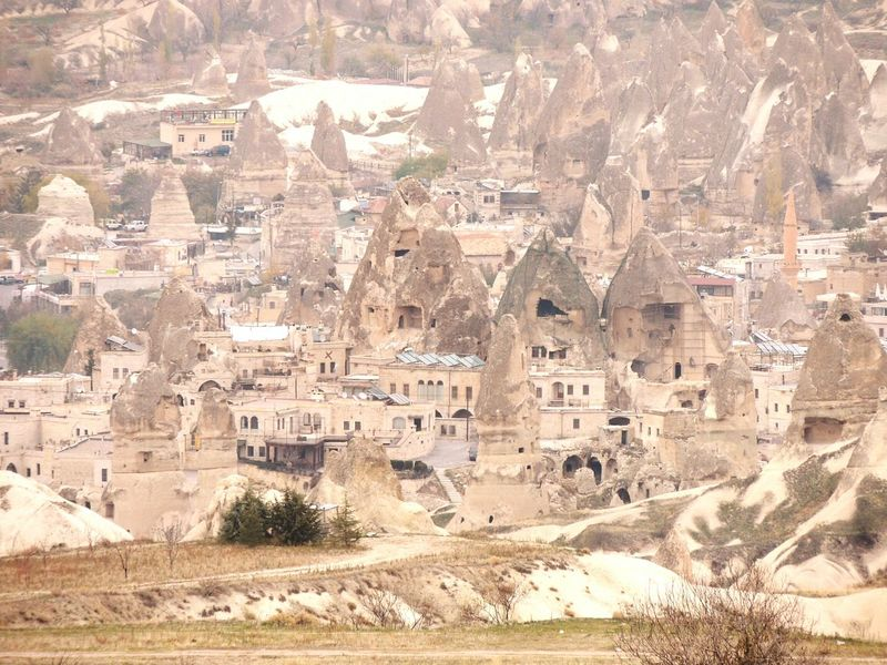 Miles Away Built Structure Architecture Travel Destinations City Cappadocia/Turkey Caves Dwellings View From Above Viewpoint