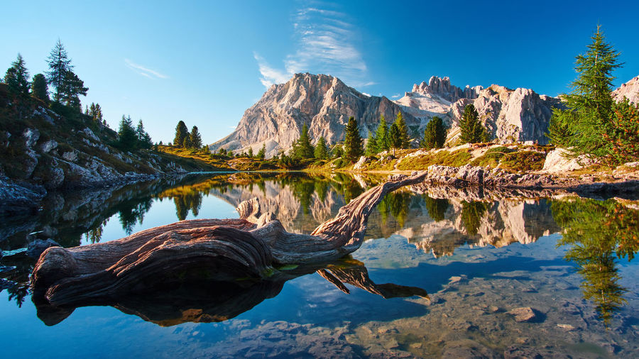 Lago di Limides, Italy Dolomites Lago Di Limedes September Beauty In Nature Blue Day Formation Italy Lake Mountain Mountain Range Nature No People Non-urban Scene Outdoors Reflection Rock Rock - Object Scenics - Nature Sky Solid Tranquil Scene Tranquility Water Waterfront