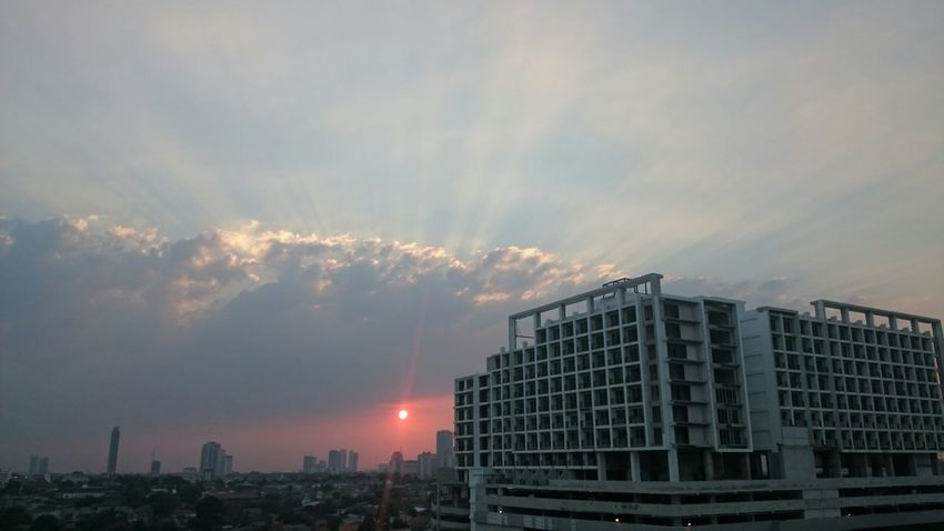 Sunset. Original Pictureoftheday Enjoying The View Nice View From South Of Jakarta Xperiaz2