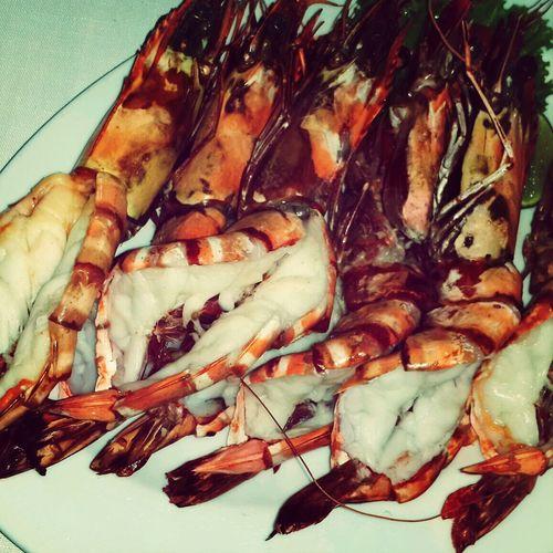 Katabeach  Fresh Shrimps Having Lunch