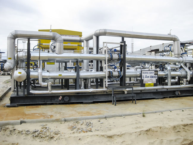 Oil Oil Pump Gas Gasprom Rosneft Refinery Industry Factory Pipeline Pipe - Tube No People Equipment Day Metal Fuel And Power Generation Technology Built Structure Outdoors Sky Machinery Architecture Connection Nature Building Exterior Business Industrial Building  Alloy Steel Industrial Equipment Silver Colored