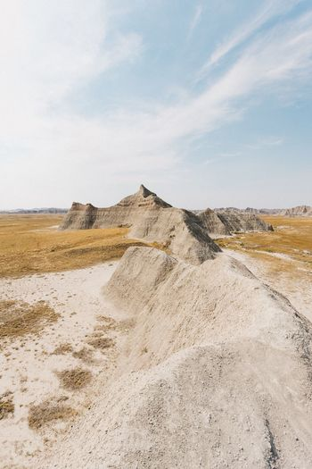Sky Nature Landscape Day Cloud - Sky Scenics Beauty In Nature No People Tranquil Scene Outdoors Tranquility Sand Badlands