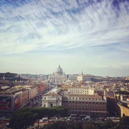 Rome ❤️ VaticanCity Vatican Taking Photos Rome Roma Italy RomanHoliday IPhoneography Iphotography IPhone Iphoto Lovephotography  Photography Seeing The Sights Dome Church Basilica St. Peter's Basilica Castel Sant'Angelo