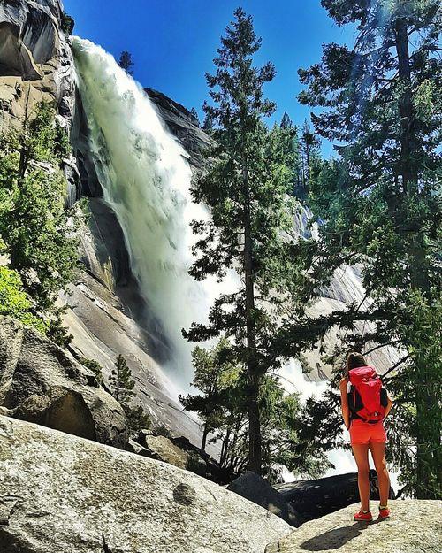Adult Motion Water Day Outdoors Power In Nature Full Length Nature Waterfall Sky Beauty In Nature Yosemite National Park EyeEm Gallery EyeEm Best Shots EyeEmBestPics Wanderlust EarthCaptures Artofvisuals CreateExplore The Great Outdoors - 2017 EyeEm Awards Scenics Live For The Story Summer Views The Photojournalist - 2017 EyeEm Awards