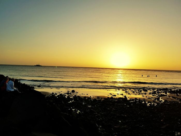 Sea Beach Horizon Over Water Water Scenics Outdoors One Person Silhouette Sunrise - Dawn Sunrise Silhouette Anzacday2016 Nature Beauty In Nature Beauty In Nature One Man Only Sand People Nature Adult Adults Only Sky Day