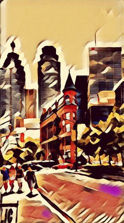 And the last filter toy today - Toronto East towards downtown - Architecture Building Exterior Travel Destinations Built Structure Tourism Travel People Outdoors Day Multi Colored City Textured  Abstract Sunset Cityscape Photography North American