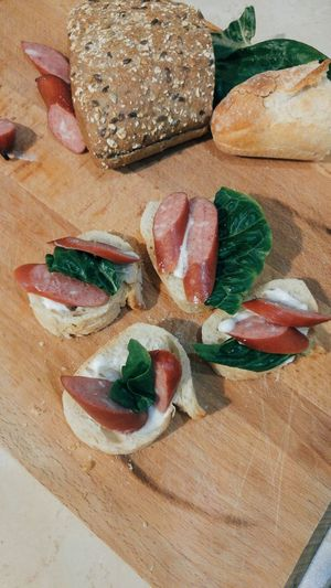 Food And Drink Freshness No People Healthy Eating Food Ready-to-eat Indoors  Close-up Ham Sausage Bread Sandwich Day