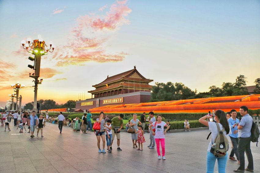 Tian'anmen Square Stand Out From The Crowd The Gate Of Heavenly Peace