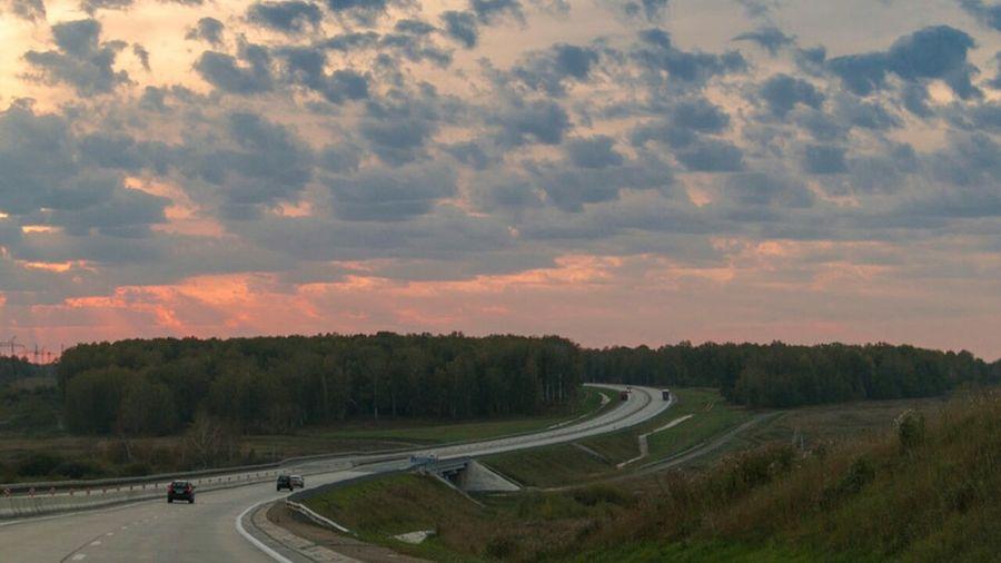 по Северному объезду Road Landscape Clouds And Sky Siberia Sunrise