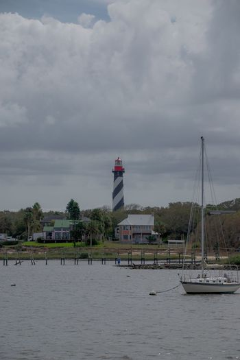 Sky Lighthouse Boat Water Waterfront St. Augustine St. Augustine, FL  Florida Clouds Clouds And Sky Nikonphotography Nikon D5300 Photographer Houses House Beacon