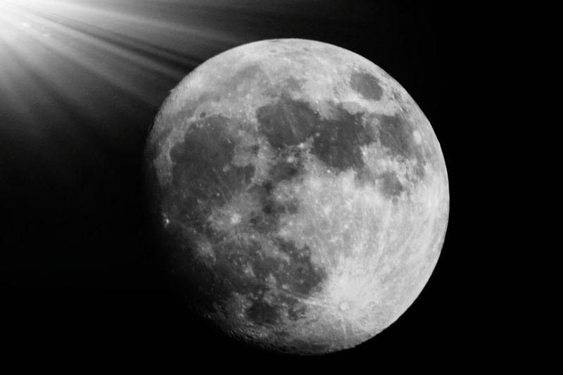Moon Night Astronomy Full Moon Moon Surface Circle Planetary Moon