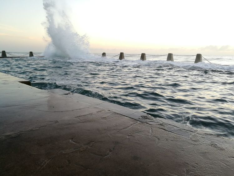 Outdoors Early Morning Wavescrashing Tidalpool Ocean And Sky Sea Nature Water Waves Sky Waves, Ocean, Nature Ocean Waves Wave Early Mornings Tidal Pool