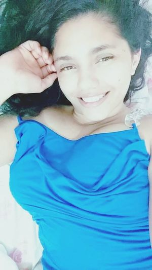 Brazilian Woman Selfie ✌ Beautiful Woman Blue