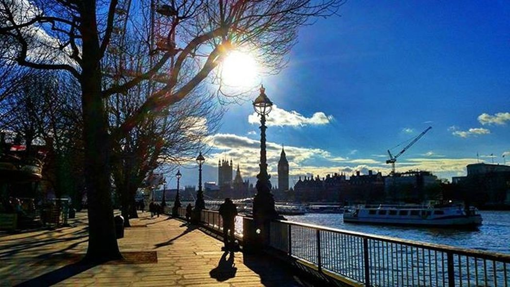 Southbank, London. Southbank Londonsouthbank LondonEye London GB Greatbritain River Riverthames Bigben Westminster Westminsterbridge Housesofparliament