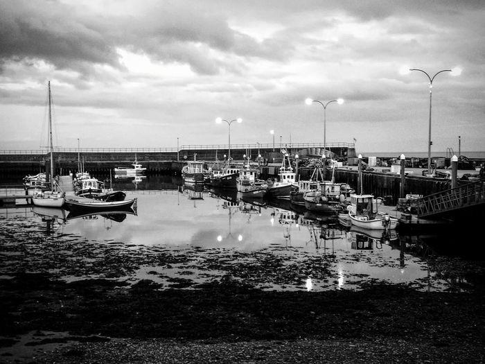 Helmsdale Harbour, Scotland. Scotland Helmsdale Water Nautical Vessel Sea Harbor Sky Cloud - Sky Boat Port
