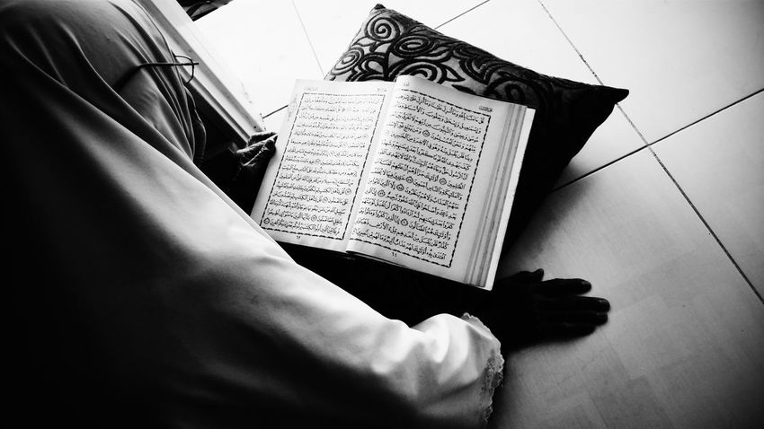 My Grandma Reading Quran :) Everyday Lives Black And White Samsung Galaxy S5 Malaysia