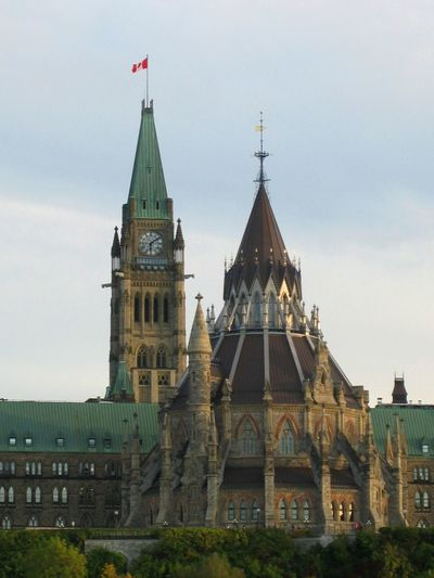 Beautiful Ottawa - a beautiful capital of beautiful Canada; has very special atmosphere. Architecture Built Structure Canadian Flag Capital Cities  Clock Tower Dome Green Roof High Section Ottawa Ottawa Parliament Tourism Travel Destinations