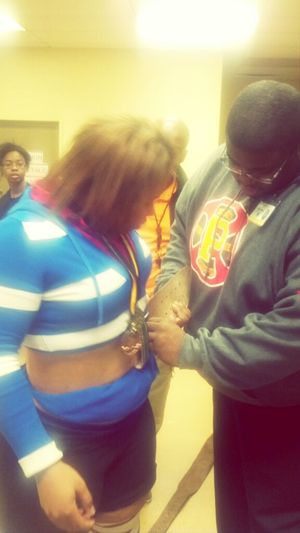 Coachh Fixing Myy Belt At Practiice