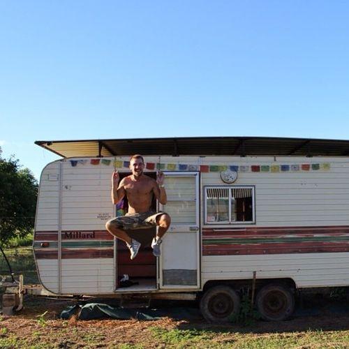 Gypo Caravan Thisisthelife Floating Havingfun Happy Gypsy Travelling Traveller Australia Cooktown Aroundtheworld Followme Me Instagood