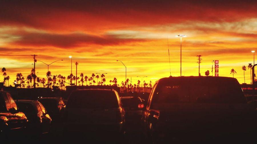 AZ Sunset Mesa Arizona Arizona Sky Arizona Sunsets Sunset Silhouette Car Sky Cloud - Sky