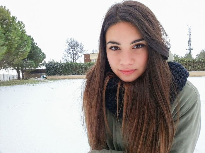 Girl Winter Snow 2015  Colors Face Eyes That's Me Good Times Nature