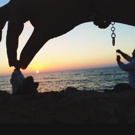 Hello World Sunset On The Beach Enjoying Life Followme Taked By Me South_lebanon Family❤