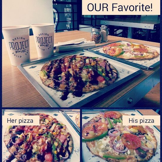 FavoriteDIET Carbslovers Ustime H &B ourfoodtripdiary createourownpizza oursundaysbest😘 projectpizzaislove happyhandsome happybeautiful