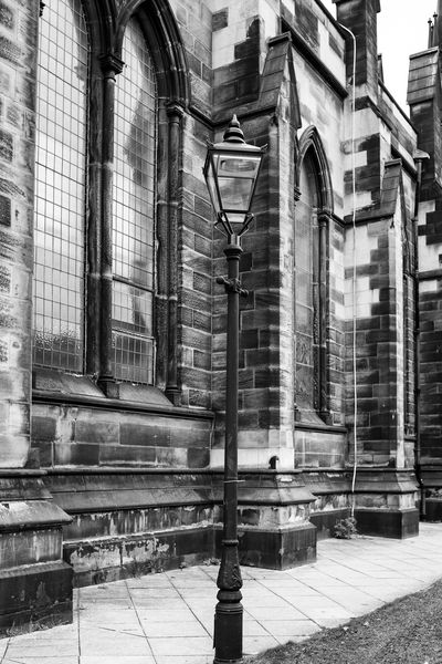 Church Architecture Blackandwhite Building Exterior Built Structure Day Lamppost Monochrome No People Outdoors