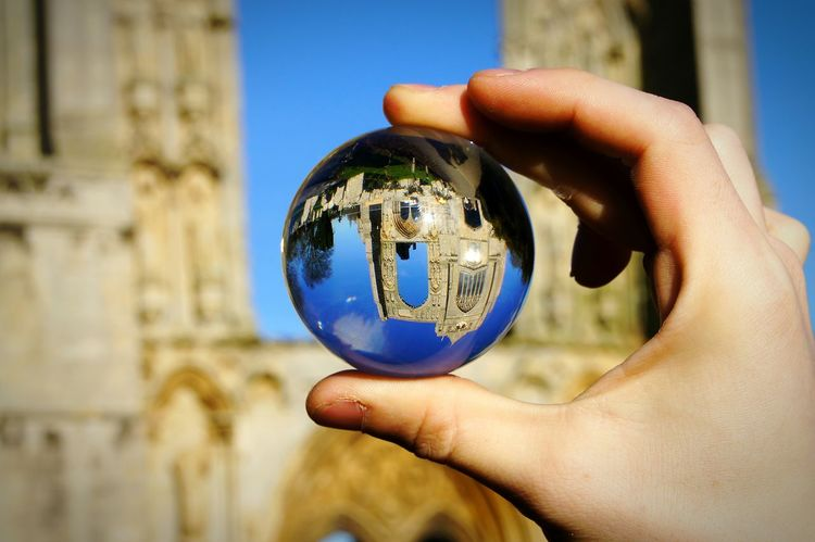 Reflections Crystal Ball Architecture Personal Perspective Sphere Glass