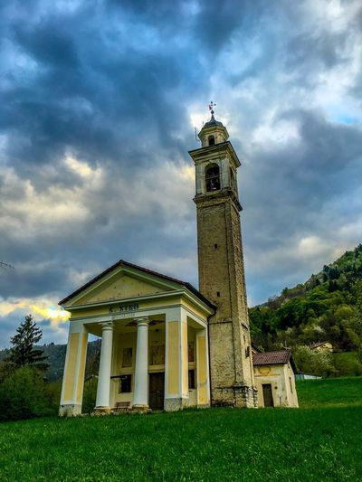 San Siro Church Clouds And Sky Seren Del Grappa Outdoor Photography