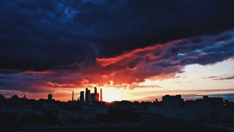 Sky Москва Россия Cloud - Sky Sunset City