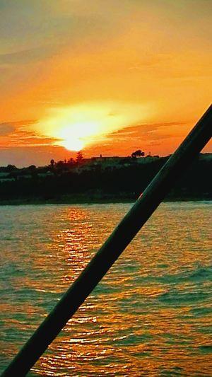 Water Sunset Nautical Vessel Orange Color Sky Landscape Cloud - Sky Romantic Sky Coast Tranquil Scene Tranquility Calm Sunrise