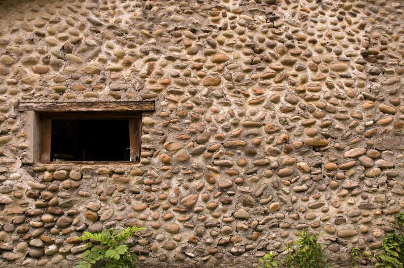 Architecture Built Structure Building Exterior Window No People Wall Stone Wall Day Building Wall - Building Feature Old House History Solid The Past Low Angle View Outdoors Nature Door Stone Material Ancient Civilization