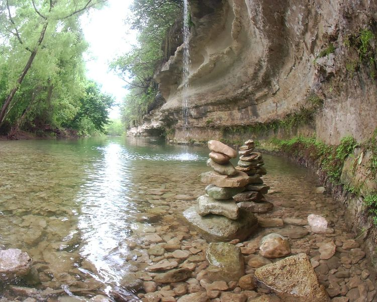 Texas River Meditation Rocks Nature