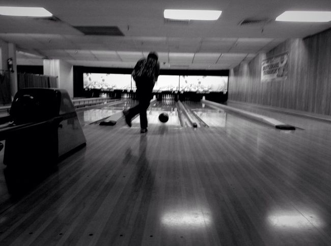 STRIIIIIKE! Bowling Black And White Pixlr Express  Blur