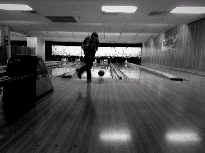 STRIIIIIKE! Bowling Black And White Pixlr Express  Blur