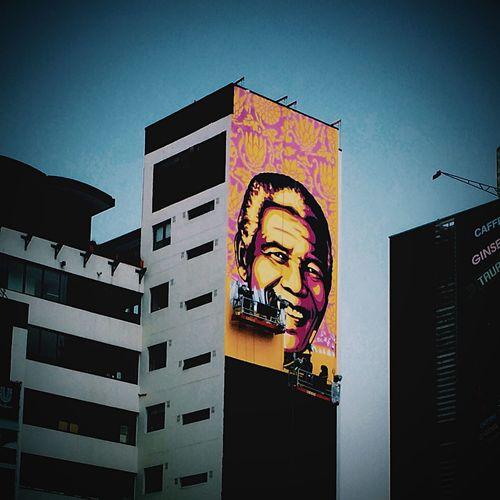 Nelsonmandela  The Purple Shal Govern Johannesburg Obeygiant OBEY Shepard Fairey